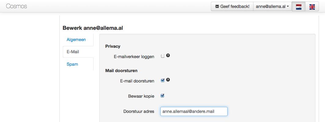 E-mailaccount-doorst