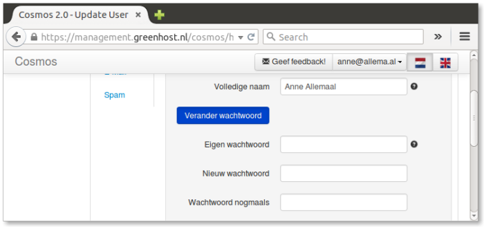 instellingen-mailaccount-verander wachtwoord