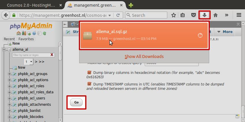 Sluit uw browser niet zolang de download bezig is! Dit kan soms erg lang duren