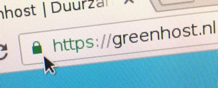 Groene slotje in de URL-balk
