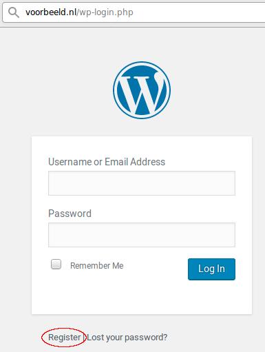 Registreer gebruiker